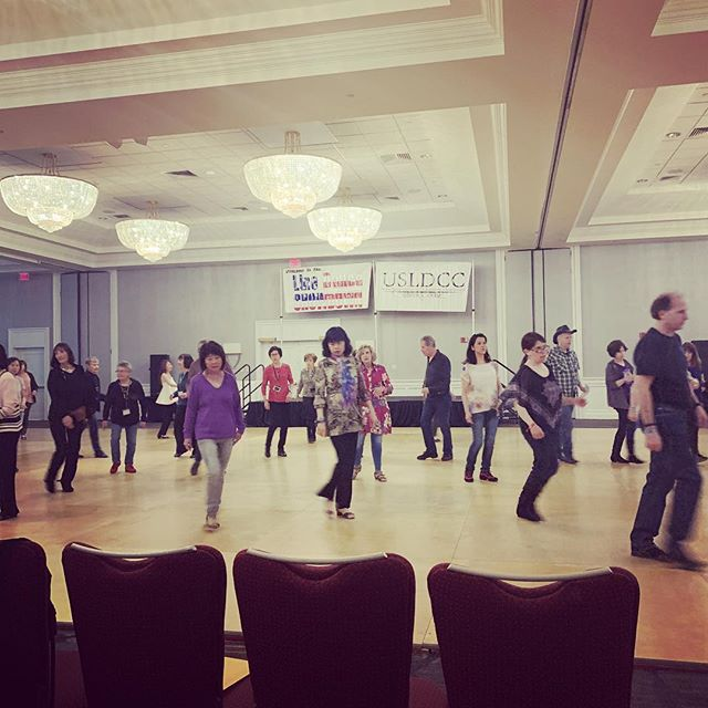 At my very first Line Dance Showdown!  Having flashbacks to my ballroom days.
