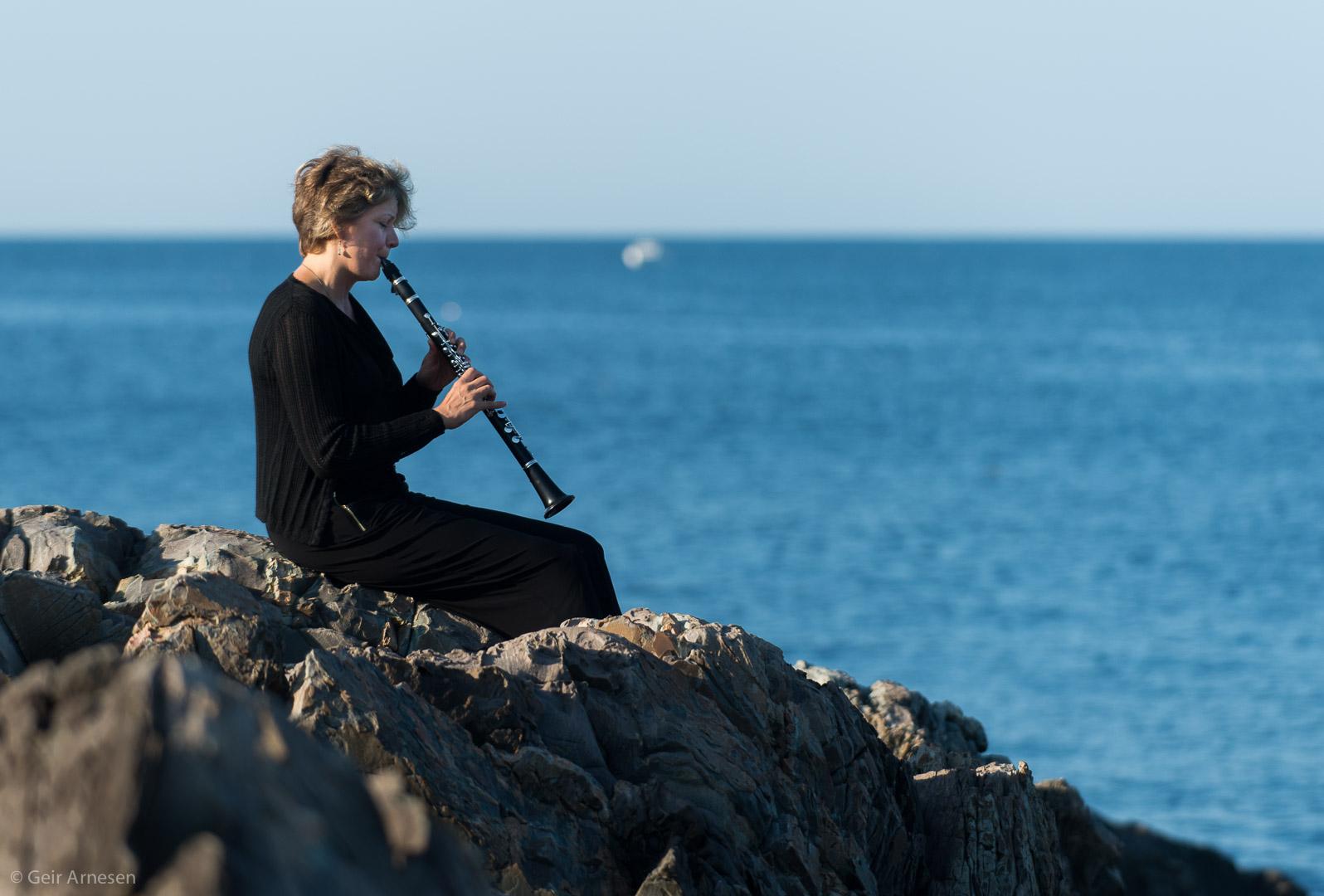 Clarinet On The Rocks - by Geir Arnesen