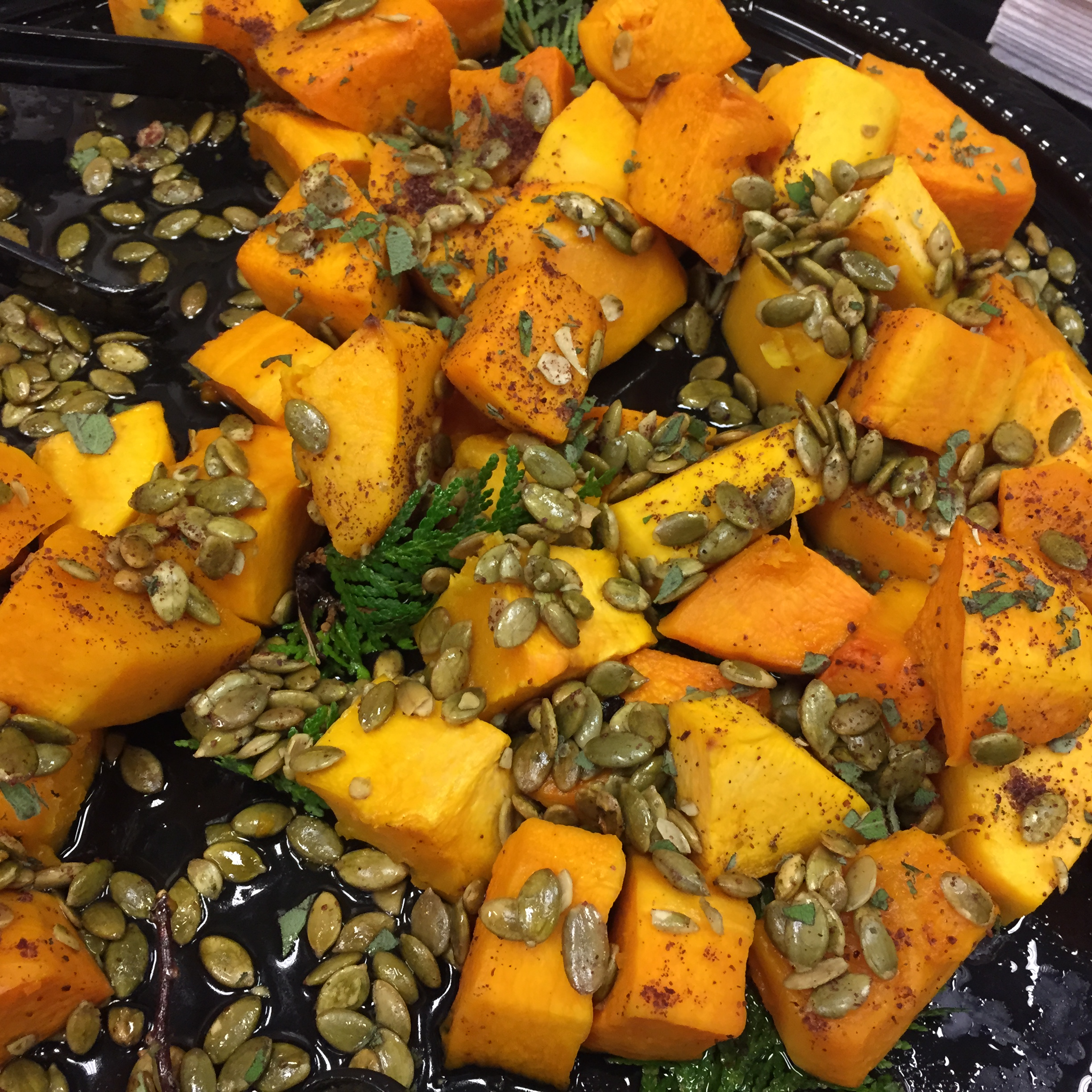 Squash, pumpkin seeds in organic maple syrup made by Sean Sherman, Sioux Chef.
