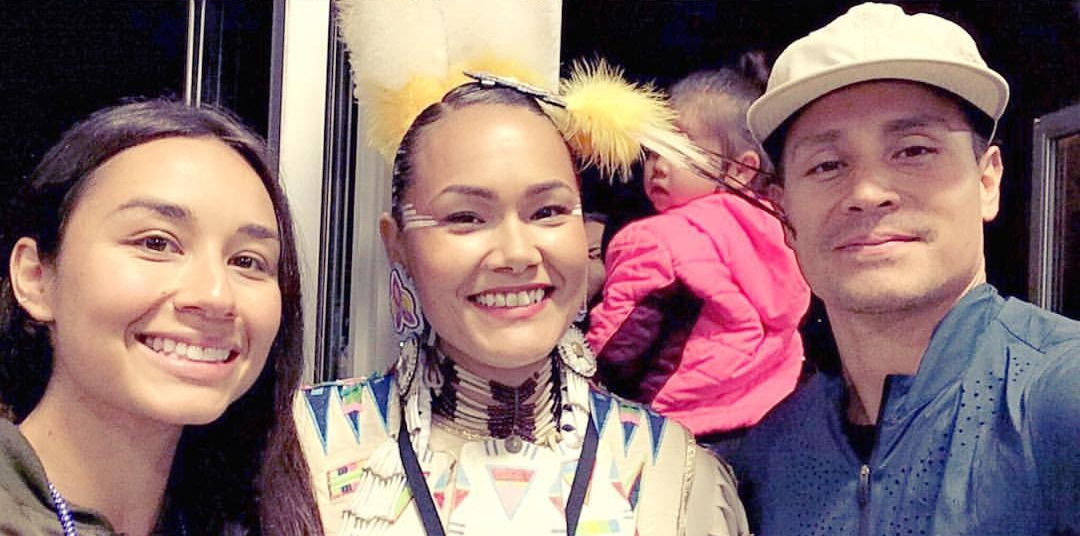 We love the work that Acosia does to promote healthy lifestyles around Native country. She is an inspiration! Here we are together last summer at a powwow in Oregon.
