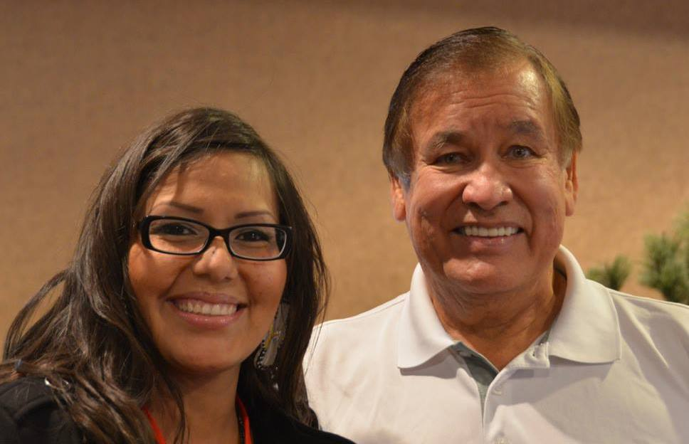 Tipi and one of her idols, Olympic champion from the Oglala Lakota nation, Billy Mills.