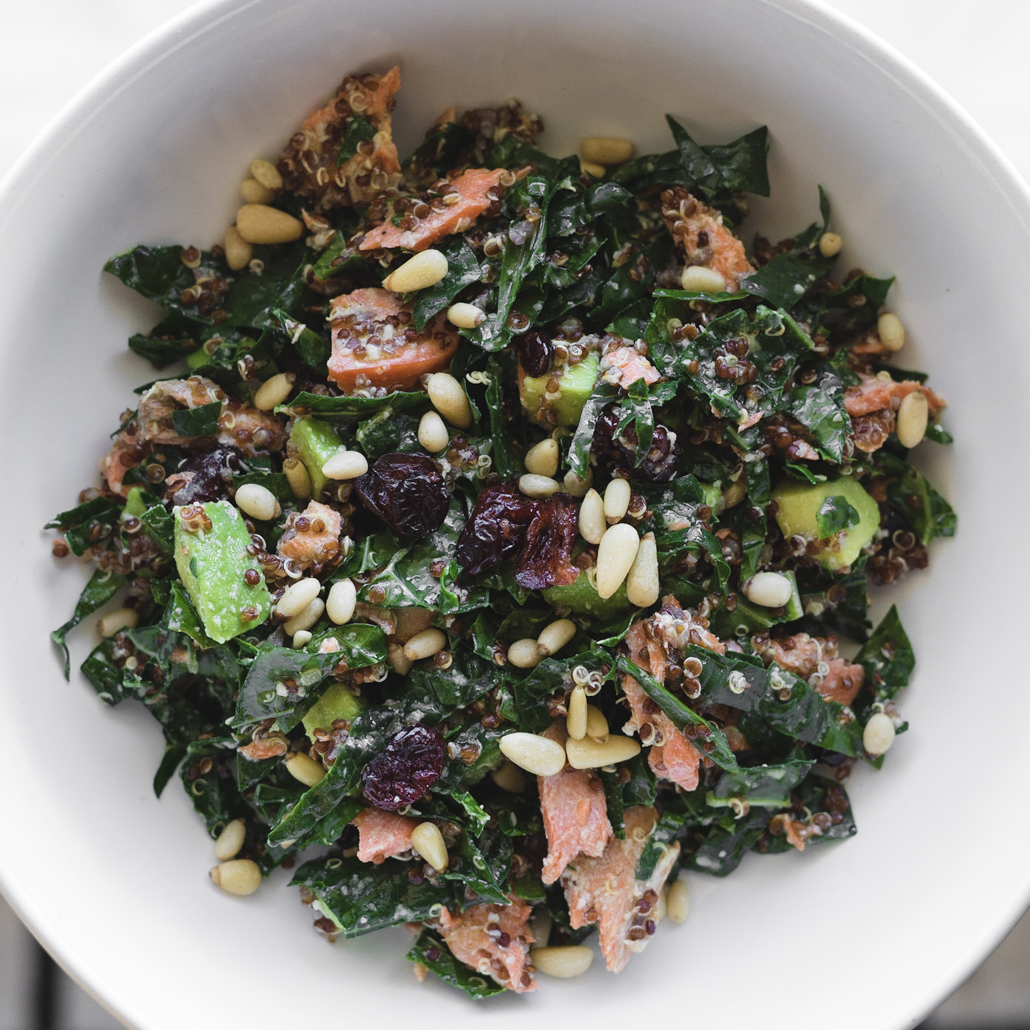 Salmon + Kale Bowl