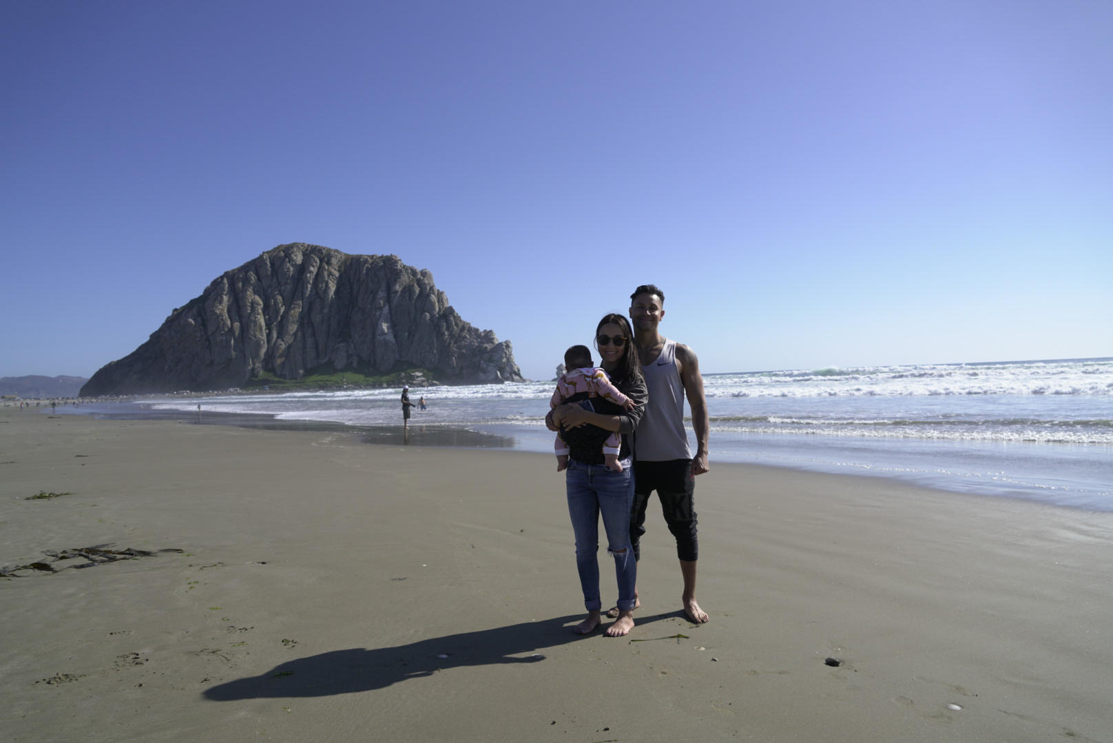 Introducing Alo to the ocean at 4 months old. Photo by Siera Begaye. @sweetsib