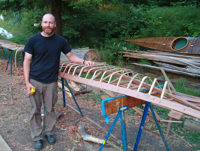 Brian and 3/4 scale Belcher Islands Kayak.