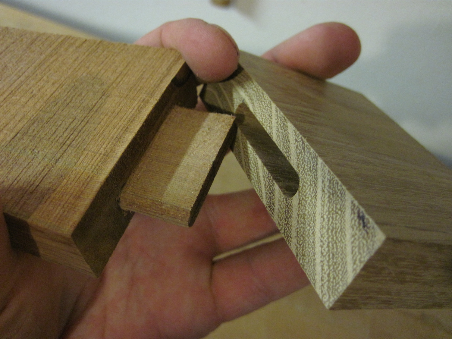 greenland paddle mortise and tenon