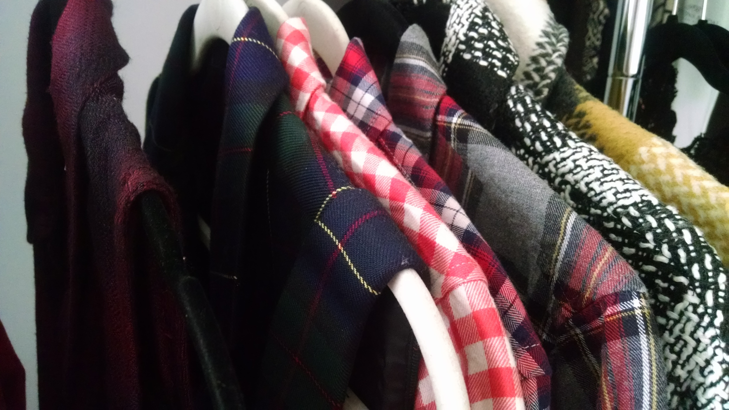 plaid shirt line-up
