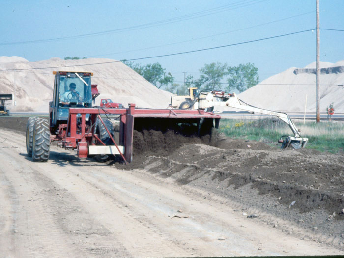 Windrow machines are excellent for aerating the soil to increase oxygen availability and reduce remediation time.