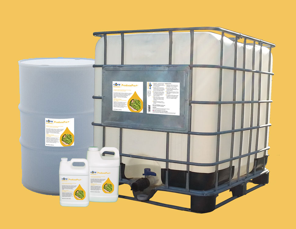 ProducePro+™ is available in a wide range of sizes from 1 gallon to 275 gallon totes.