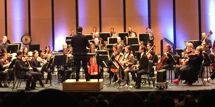 Brett Mitchell leads his debut with the Dallas Symphony Orchestra at Dallas City Performance Hall on March 11, 2016.
