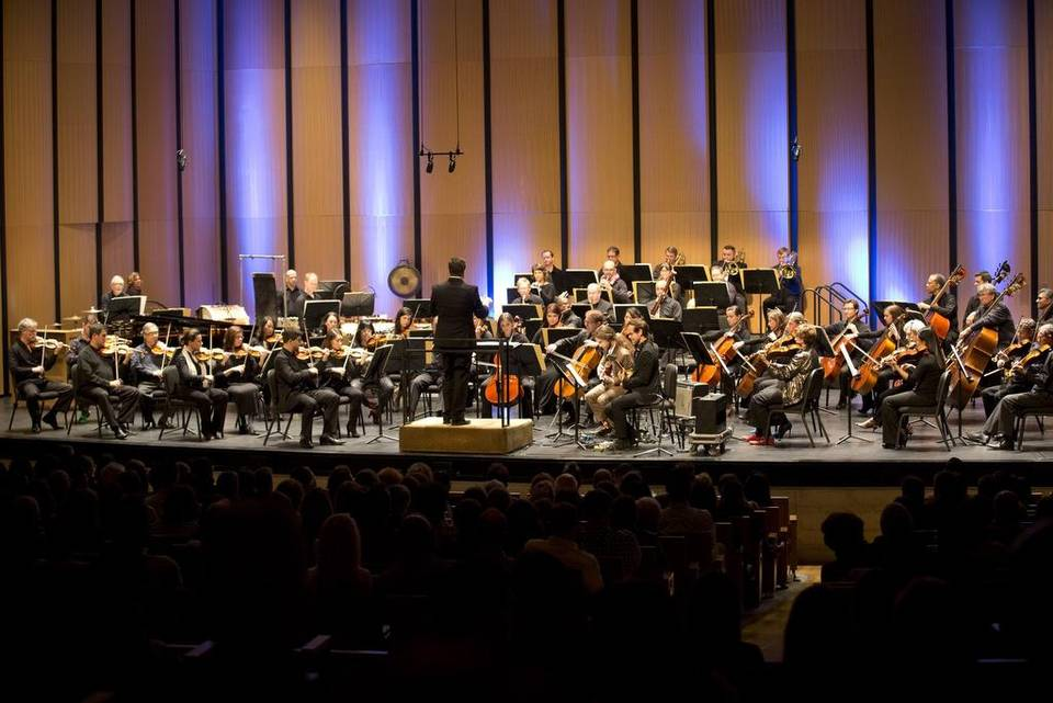 Brett Mitchell in concert with the Dallas Symphony Orchestra at Dallas City Performance Hall on March 12, 2016.