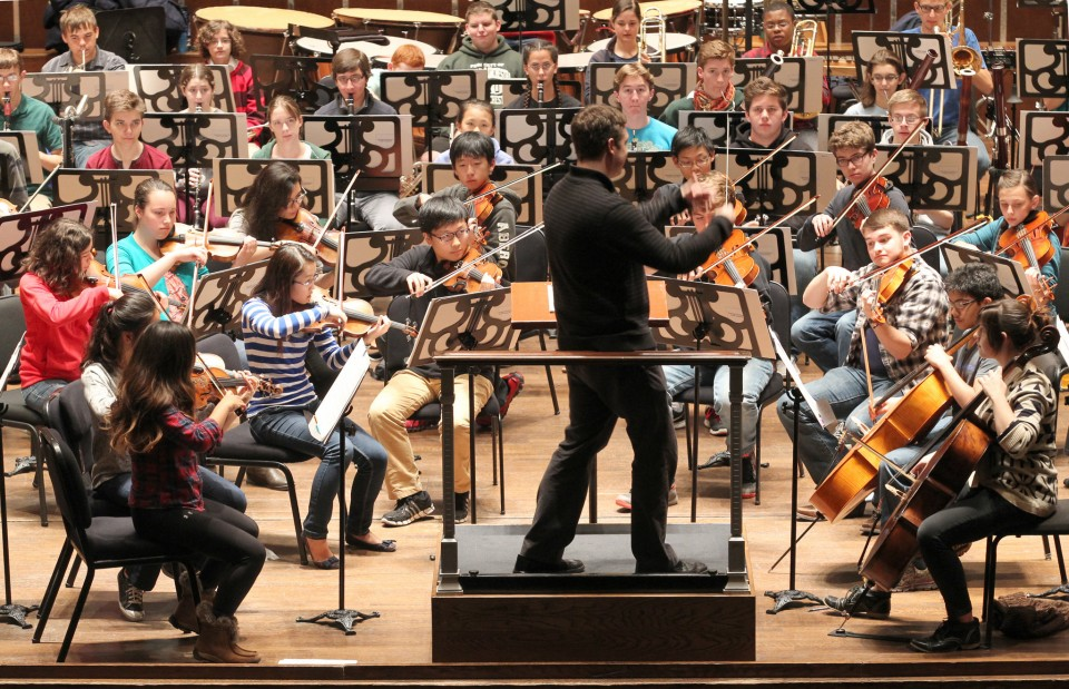 Brett Mitchell presides over the Cleveland Orchestra Youth Orchestra for the 2016-17 season, the last of his tenure at Severance Hall. (Photo by Thomas Ondrey for  The Plain Dealer )