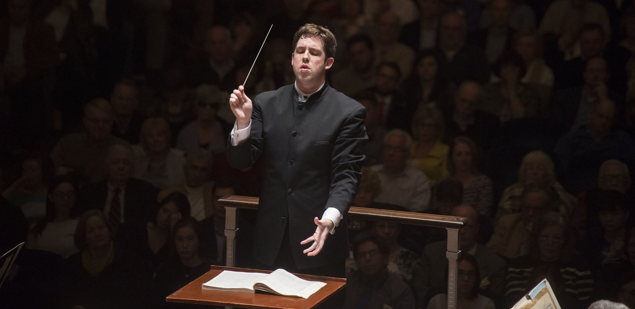 Brett Mitchell will lead The Cleveland Orchestra in a subscription program of three American works this weekend at Severance Hall. (Photo by Roger Mastroianni)