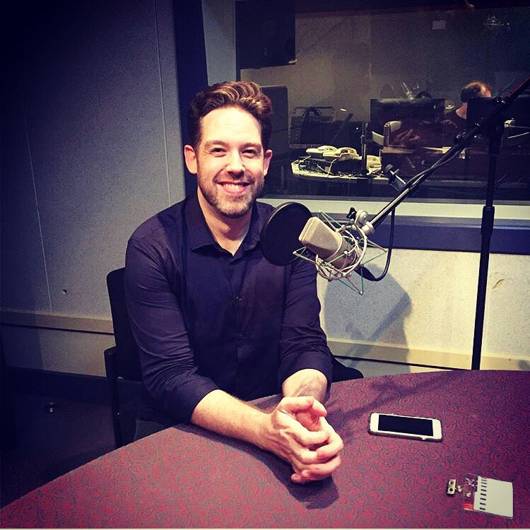Brett Mitchell at the Radio New Zealand studios on Tuesday, May 8. (Photo by Tom Cardy)