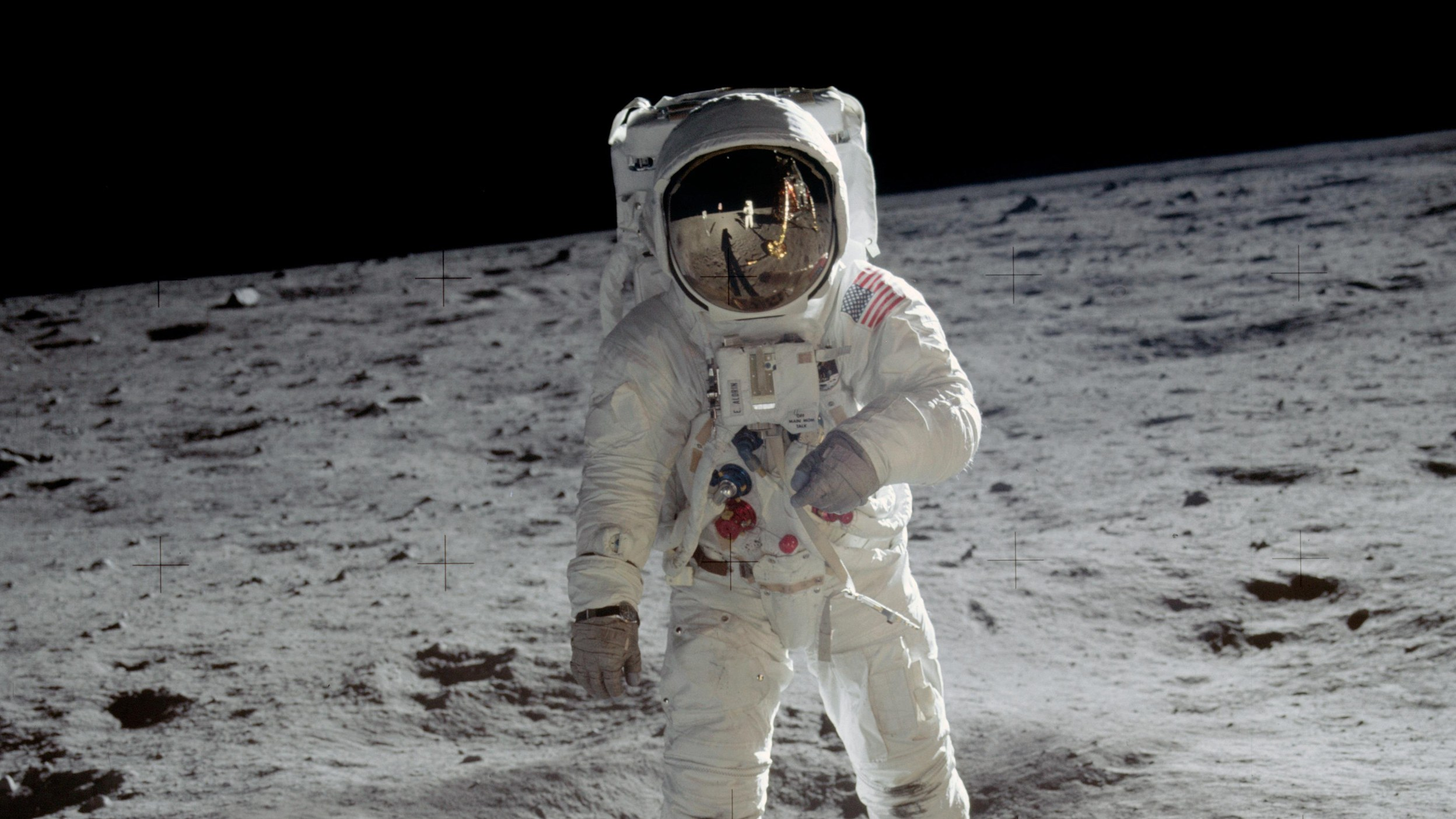 Buzz Aldrin on the surface of the moon during the Apollo 11 mission. (Photo by Neil Armstrong)