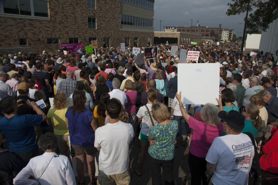 Planned Parenthood rally, St. Paul, MN 8-22-15