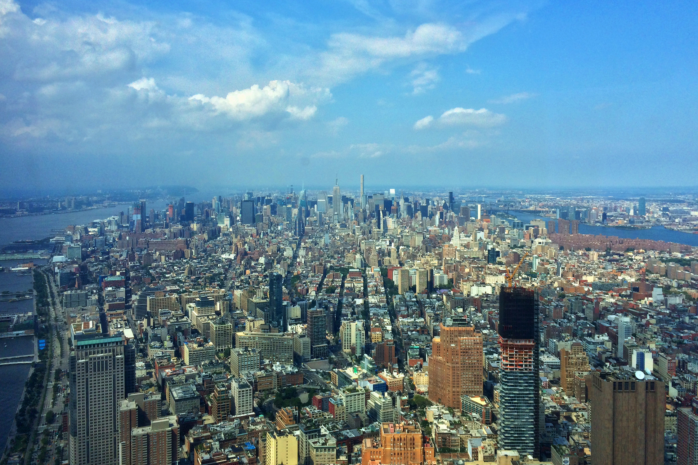 New York City, from the 100th floor of One World Trade Center