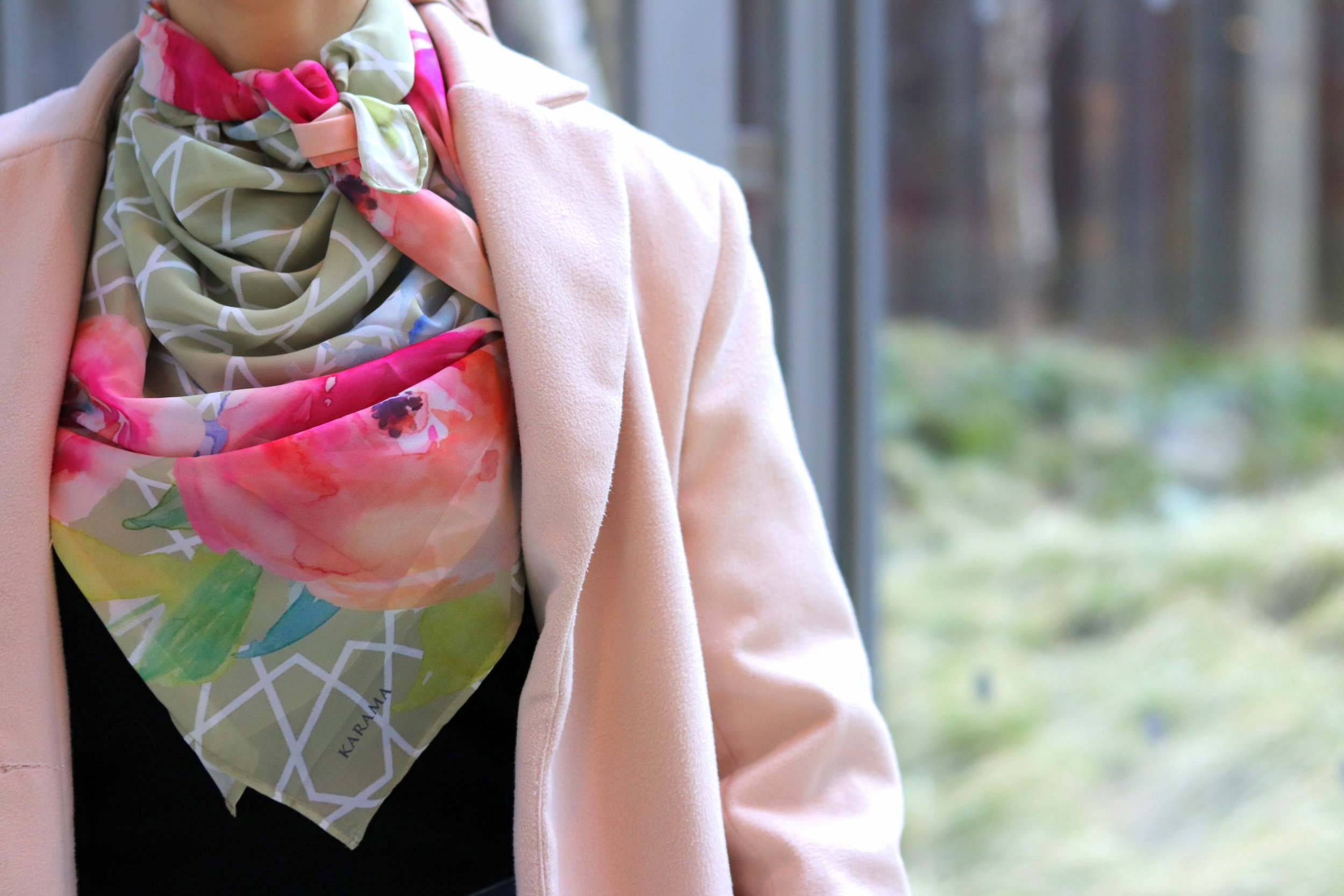 moroccan scarf neck scarf