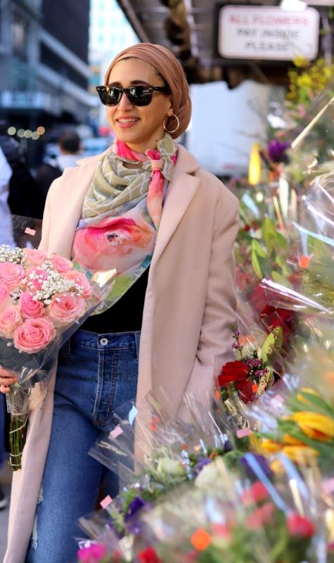 moroccan scarf neck scarf nyc fashion