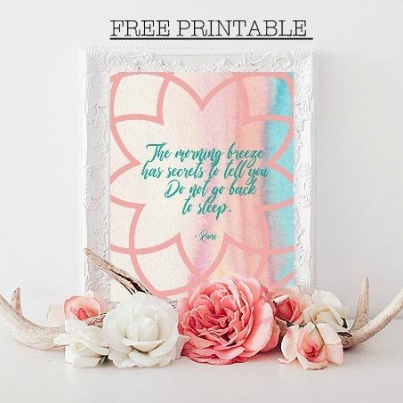 Free Morning Rumi Printable