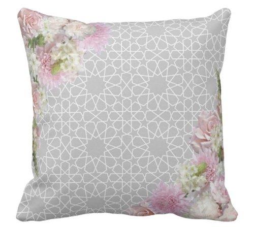 Moroccan Arabesque Grey Velvet Pillow- Karama by Hoda.jpg