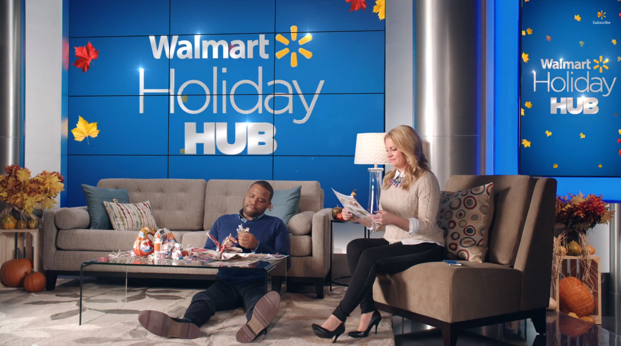 WALMART -HOLIDAY HUB AD CAMPAIGN (2014)   Online Editor   This holiday ad campaign starred Anthony Anderson and Melissa Joan Heart in a series of over 60 nationally-broadcast TV spots, and a variety of web-targeted commercials.
