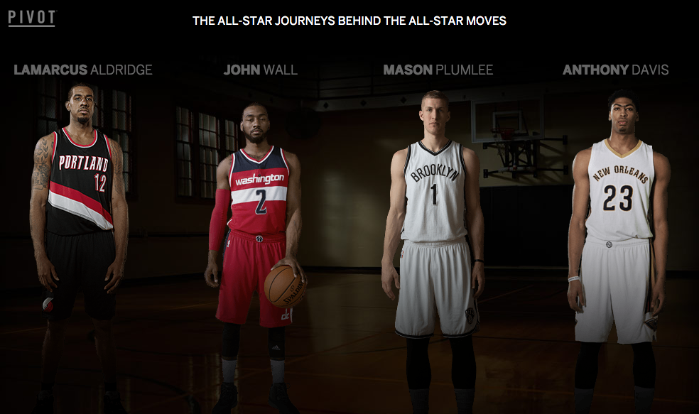 AMERICAN EXPRESS PIVOT - NBA ALL-STARS (2015)   Editor, Online Editor, Colorist (Interactive Segments)   This innovative, interactive experience gave fans unprecedented access to select players' signature moves as part of the 2015 NBA All-Star Game.