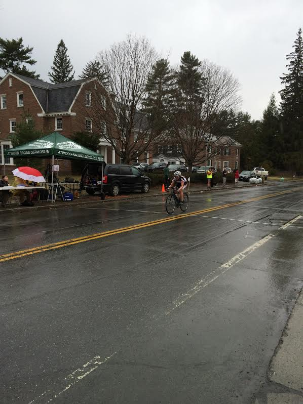 This is Anne. Winning in a 16-lap solo break. In the rain. At her alma mater. It doesn't really get better than that.
