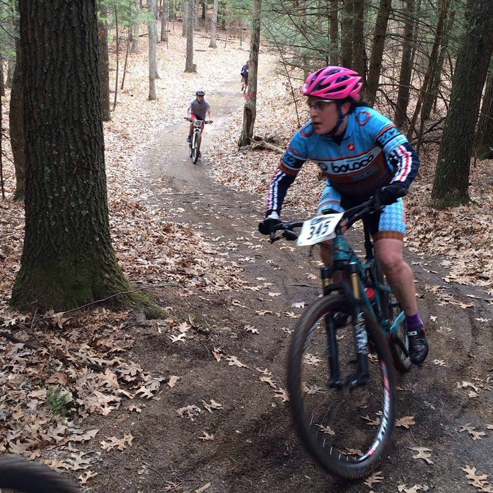 Sharon shredding around her first MTB race on the way to a fantastic second place!