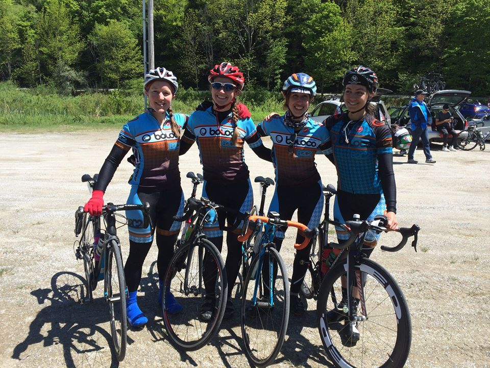 Anne, Emma, Lydia, and Jen after Stage 1.