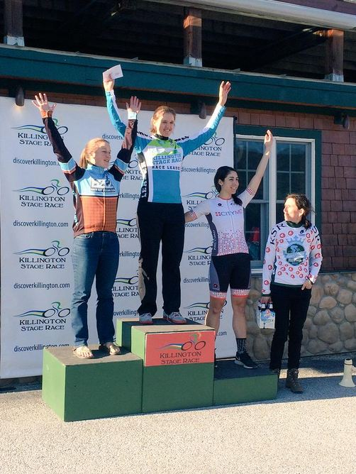 Anne on the 2nd step of the podium!