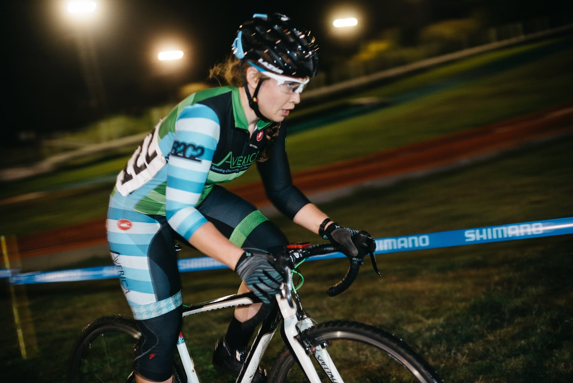 Fighting in the Dark. To not get lapped. By Katerina Freaking Nash. Photo Credit:  Anonymous Race Photographer .
