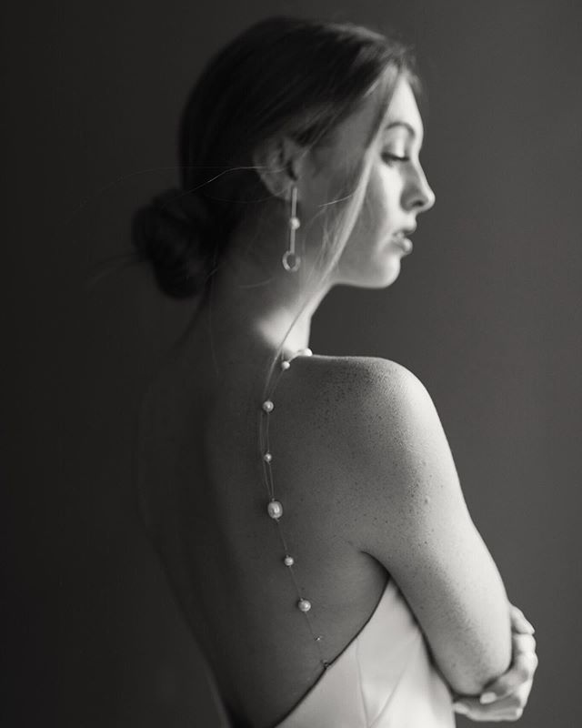 Freshwater pearls strap - @newhite_bridal | @marissajoanphoto @newhite_bridal @andotherstories @glossier @tjackss