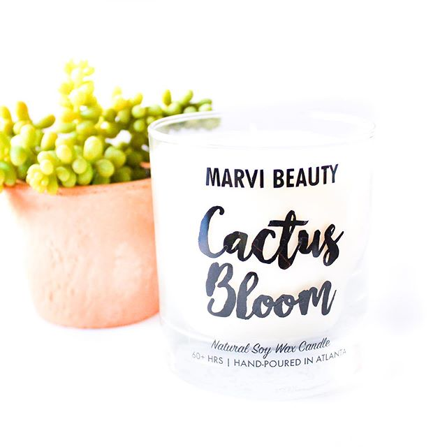 Our Cactus Bloom Candle is a refreshing blend of fresh flowers and light coconut with a soothing musk and sandalwood base. Easy to see why it's one of our bestsellers! 🌵🌸 . . . . . . . #cactusbloom #soycandles #luxurycandles #handpouredsoycandles #madeinatlanta #georgiamade #hyggehome #smellsogood #veganbeauty #naturalbeauty #sustainability #candle #shoplocalatl #shopsmallbusiness #soywaxcandles #candleaddict #candlesofinstagram