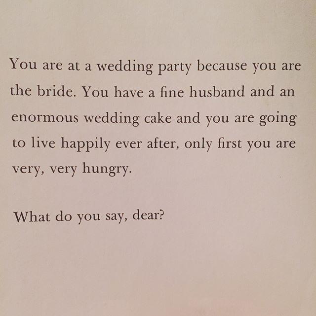 Wedding foreshadowing? 🎂🥂👰🏼🤵🏻