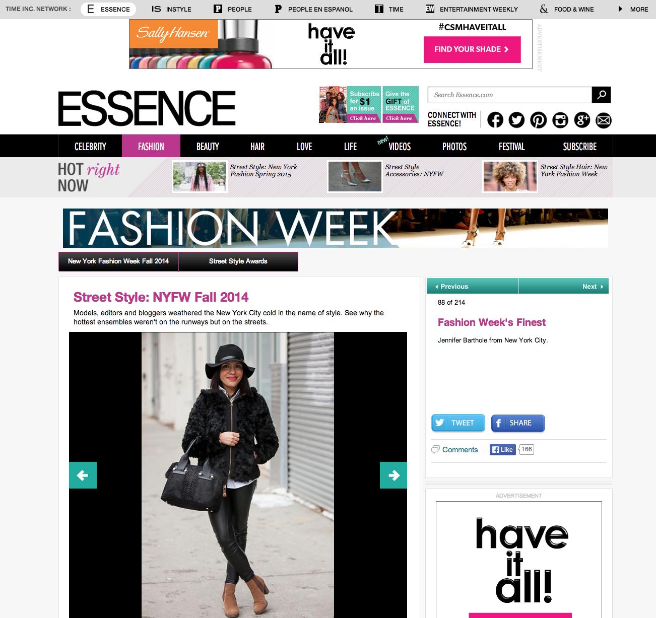 Essence.com Street Style feature.