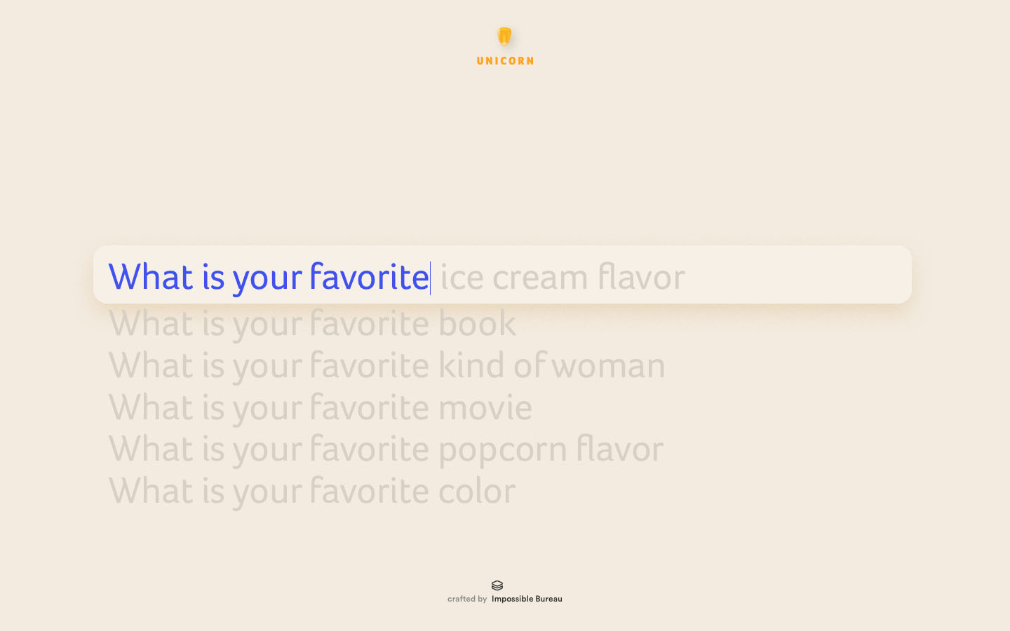 UX and Interaction: An intuitive solution to search queries. The predictive search is connected to a database of queries made by previous visitors.