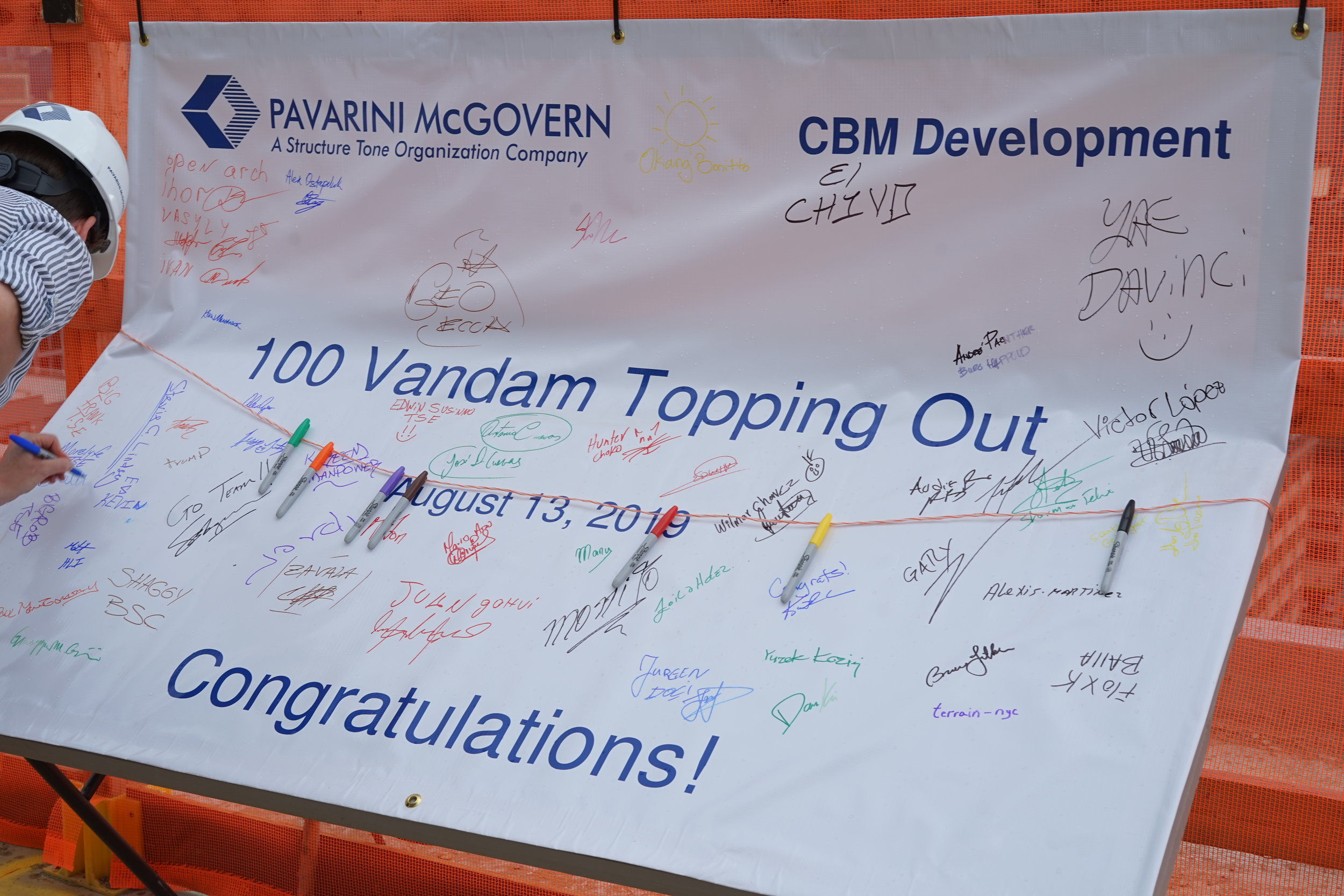 100 Vandam Street Topping Out Party