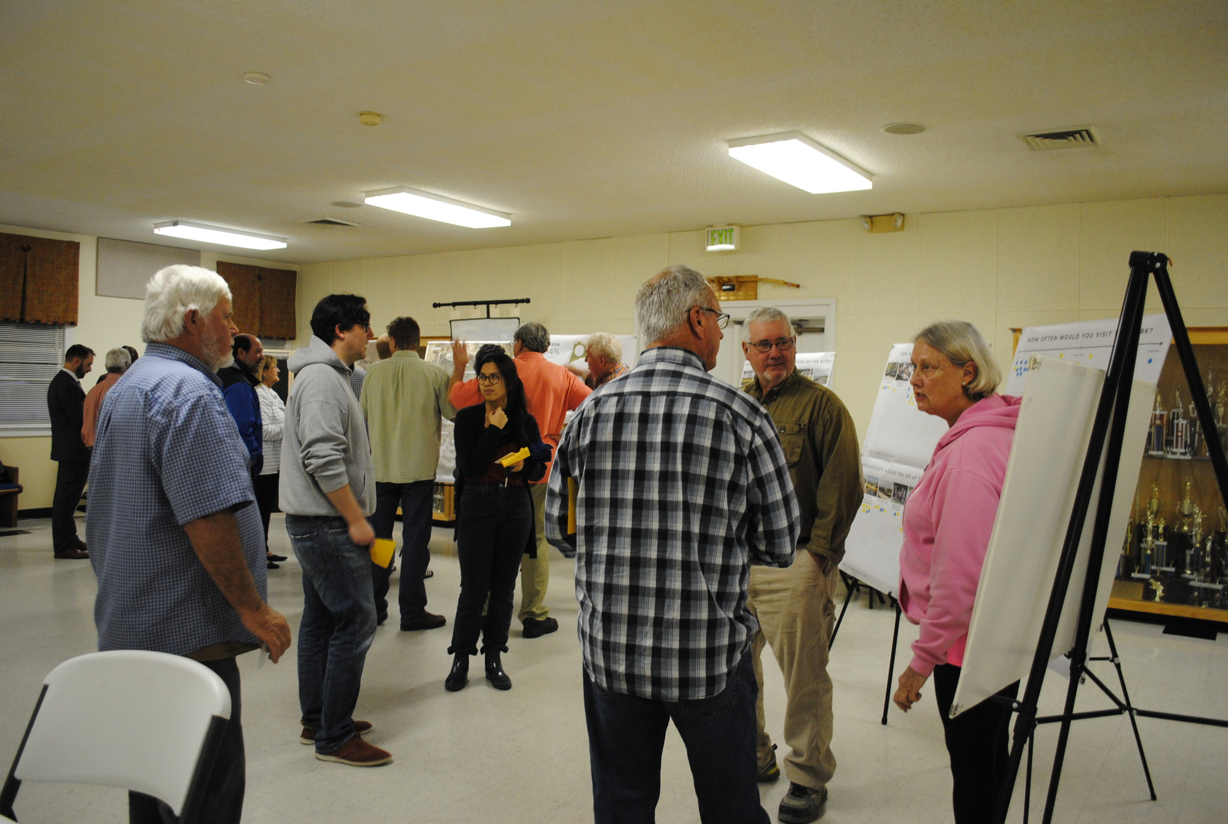 Citizens discuss the park at the Public Meeting on February 28, 2019.