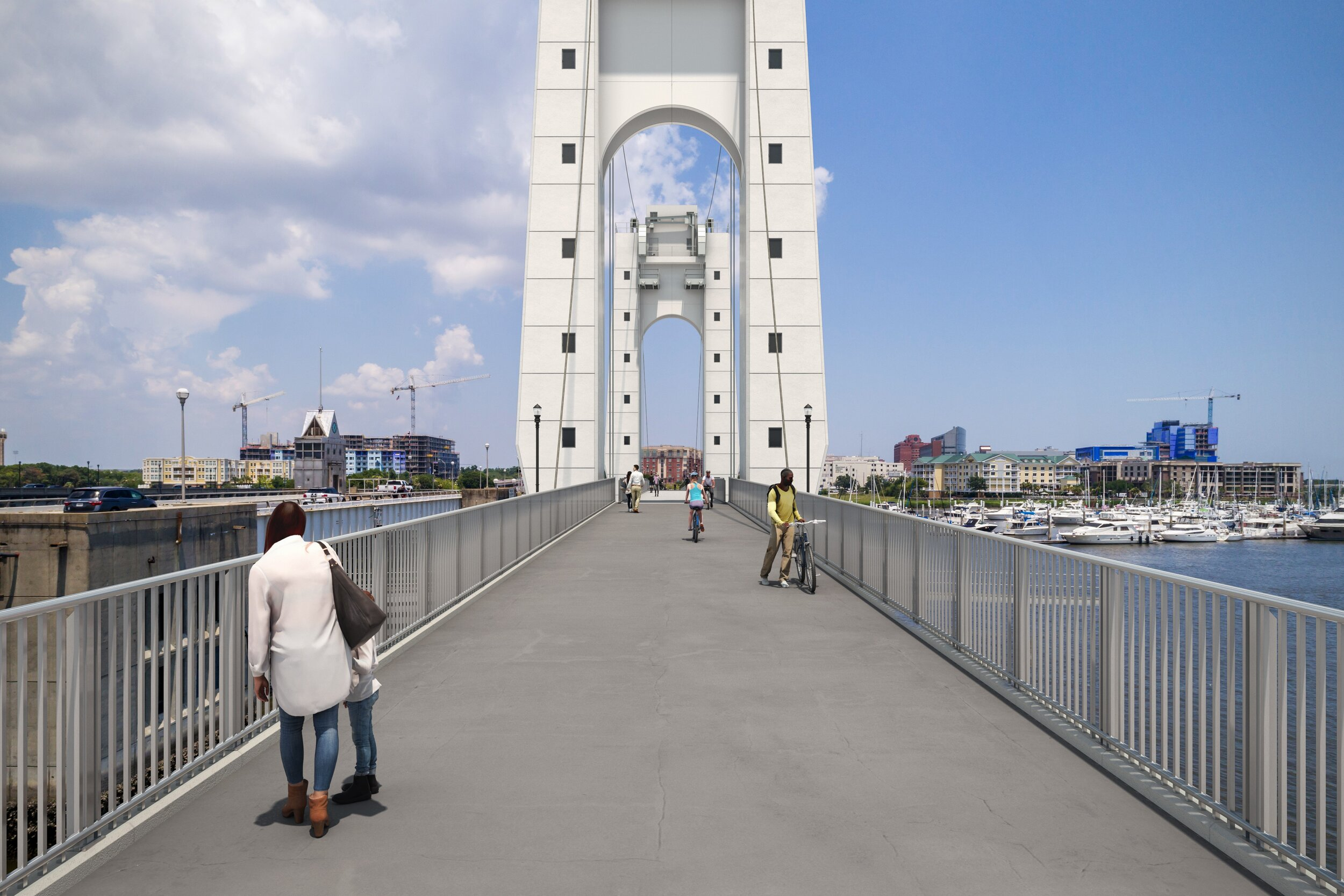 Raised or pivoted bridge opening would be controlled by existing bridgetender operations. Image Credit: HDR