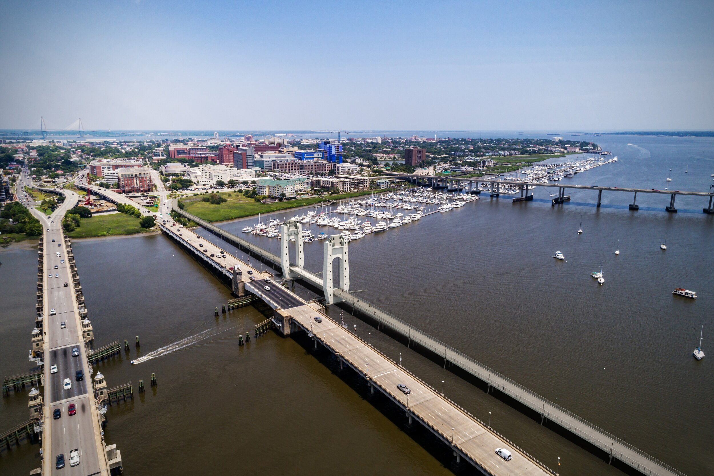 Ashley River Crossing Bike and Pedestrian Bridge, Image Credit: HDR