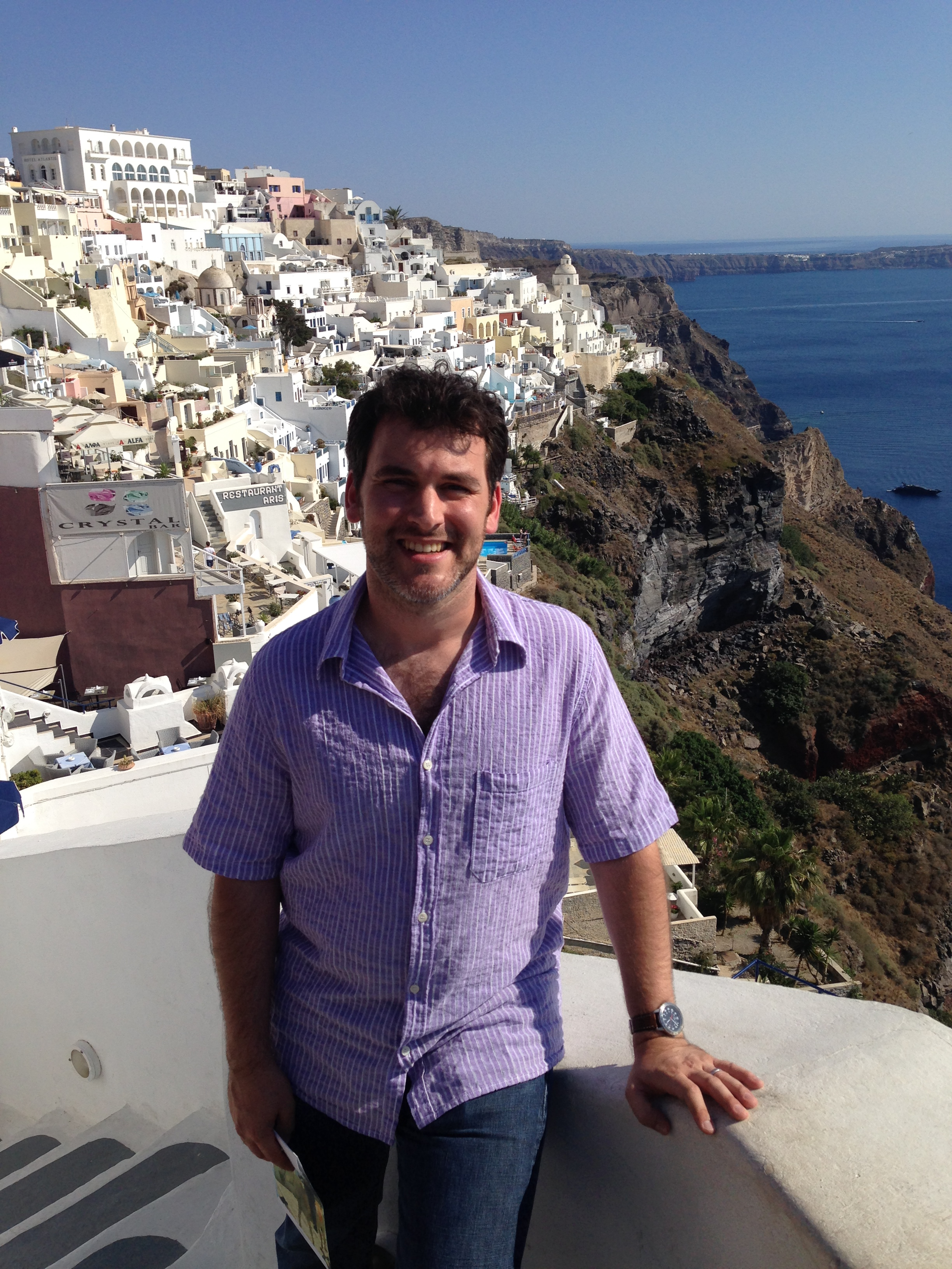 david sparks jr. enjoys the view in santorini