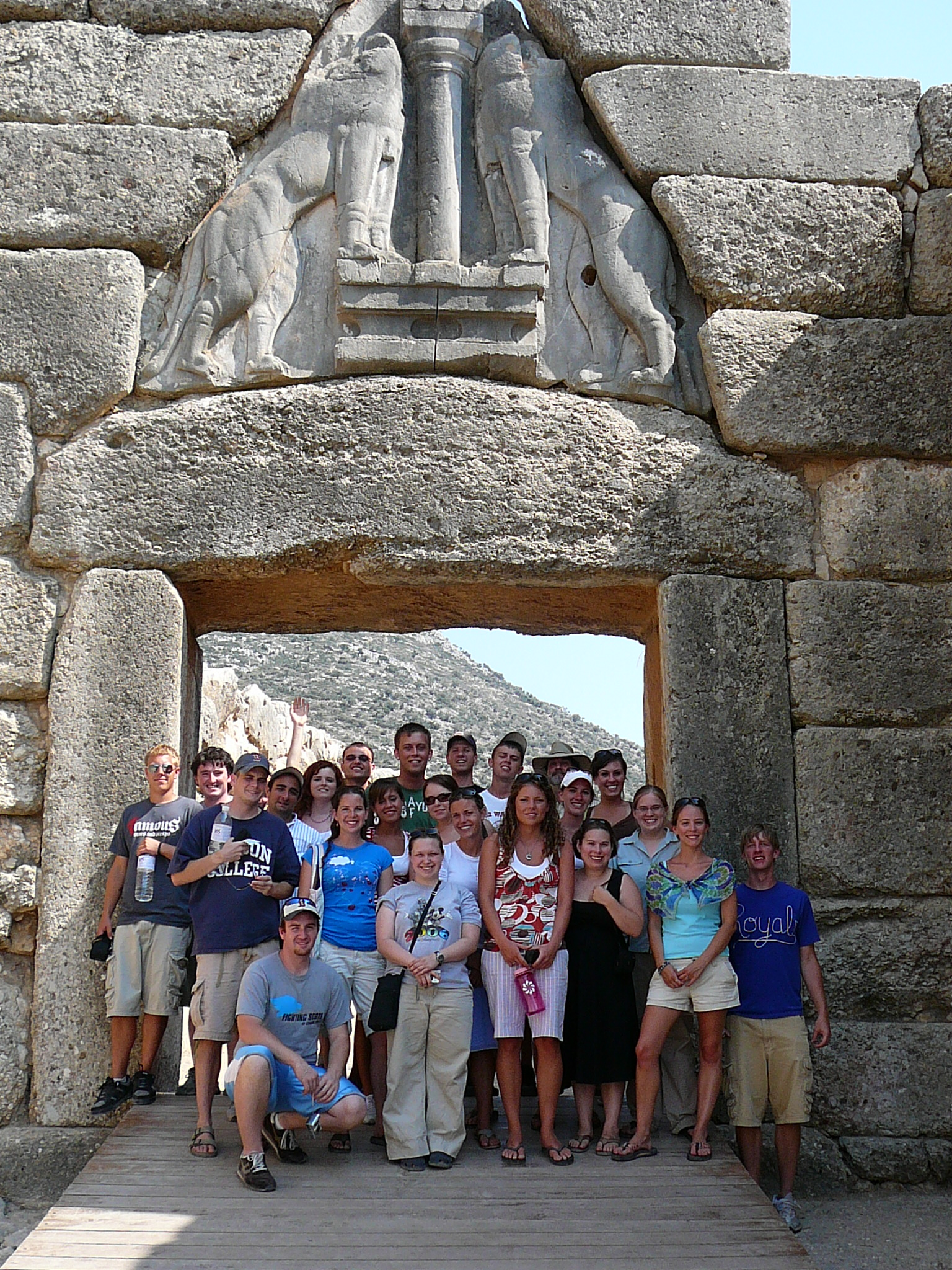 lion's gate in mycenae