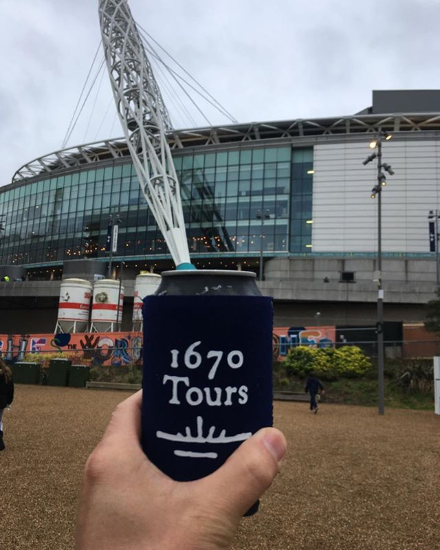 The coozie makes it to Wembley Stadium!  #1670tours