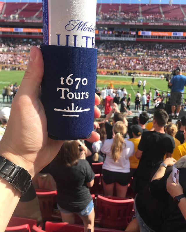 Outback Bowl in Tampa. Iowa Hawkeyes victorious!  #1670tours. #wheresmy1670coozie