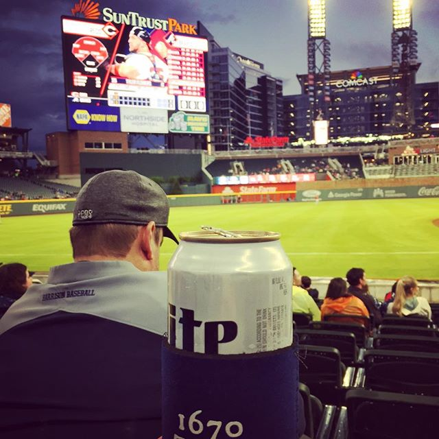 The coozie visits Suntrust Park in ATL. Go Braves!  #1670tours