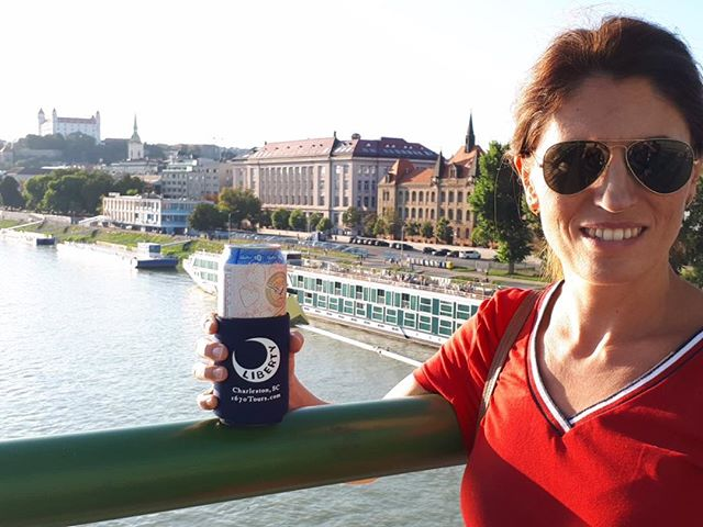 The coozie visits Bratislava, Slovakia!  #1670tours #wheresmy1670coozie