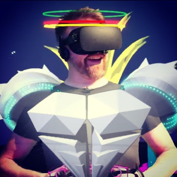 My work uniform is better than yours and my TEDx talk is online now. Link in profile! #virtualreality #vr #ar #storytelling #tiltbrush #artist #vrartist #artistsoninstagram #oculusrift #eaglerider #tedx #tedxpeterborough