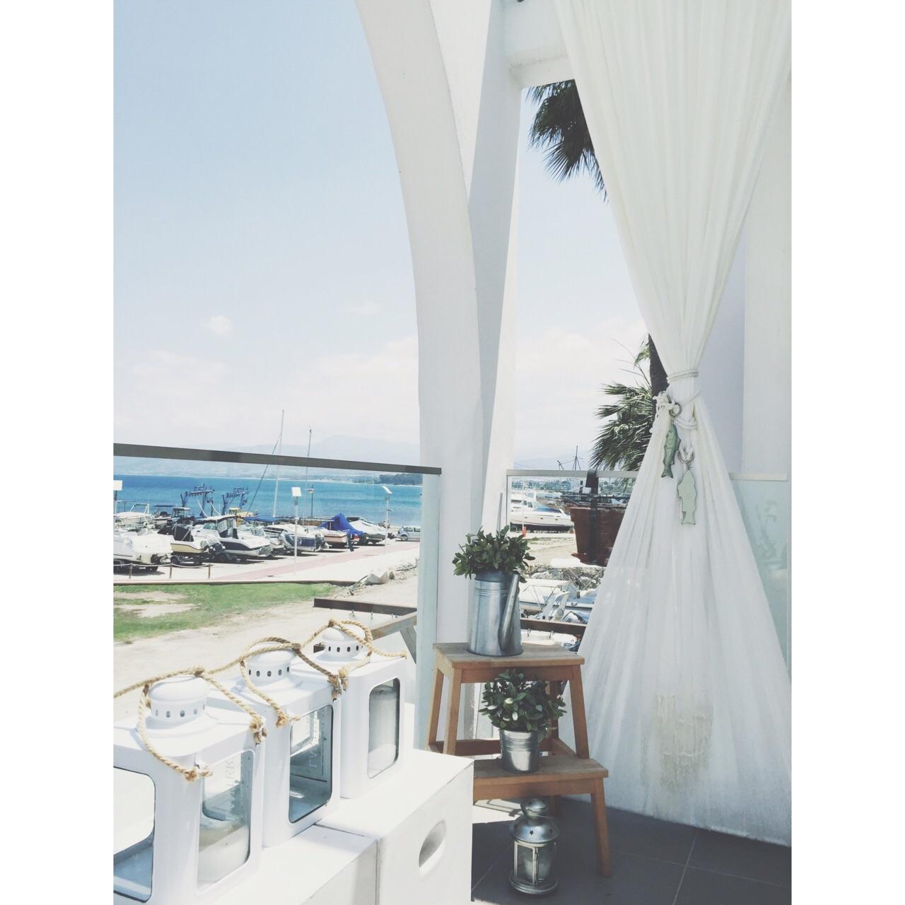 View of Latchi marina from the balcony