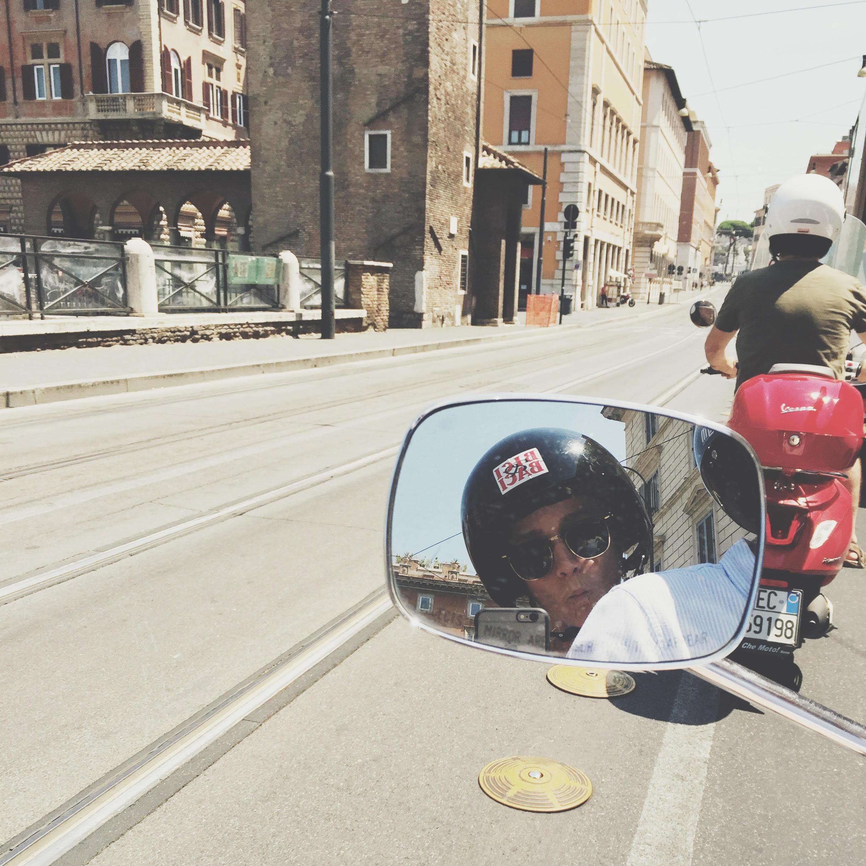 Vespa tour through Rome