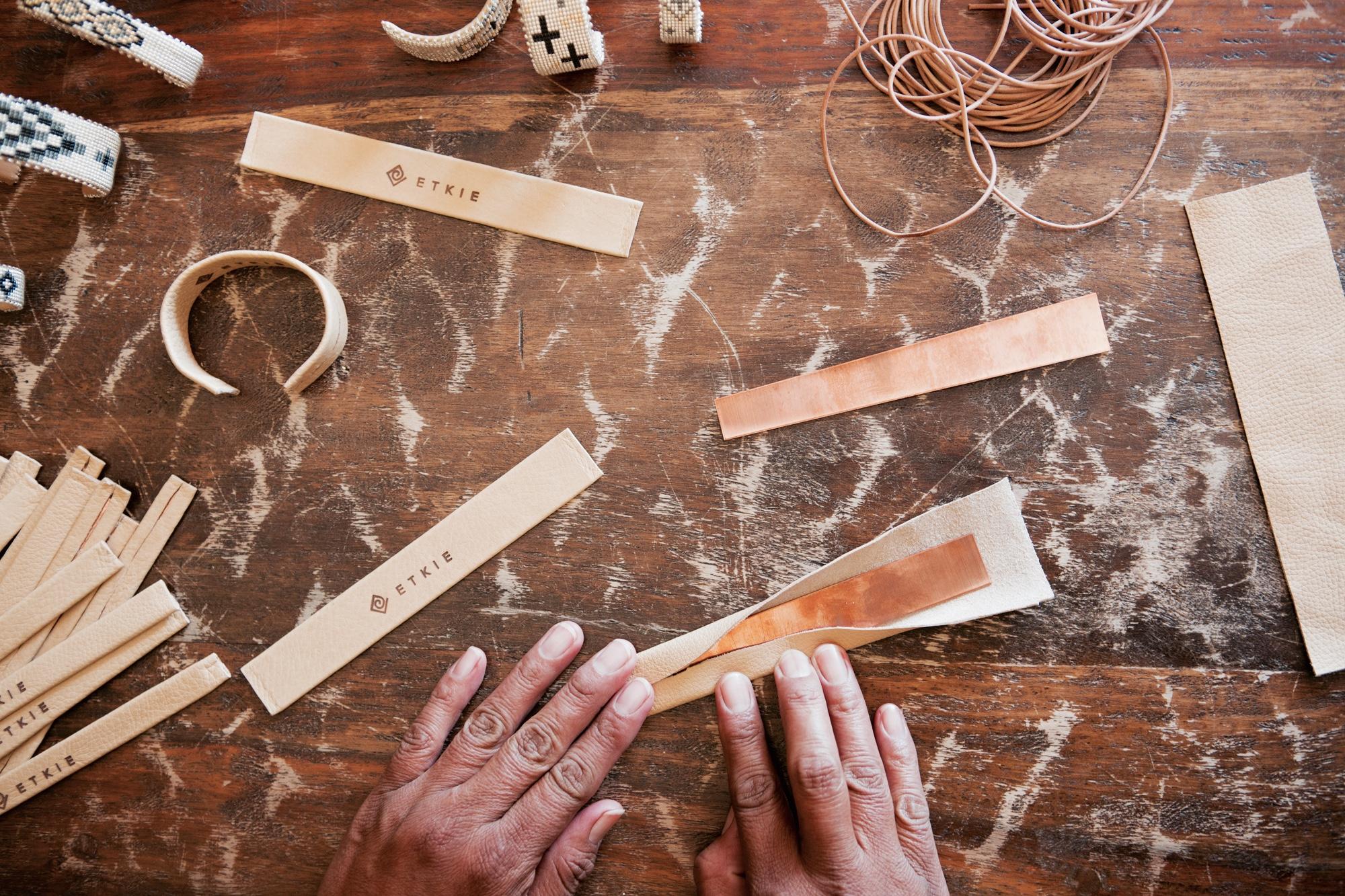 Etkie bracelets in production